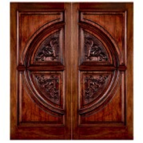 Double Entry W Inlaid Mahogany Wood