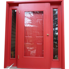 Poplar Wood Species Custom Storm Door